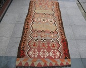 85x32.6 inch 216x83 cm vintage kilim rug short runner home decor FREE SHİPPİNG