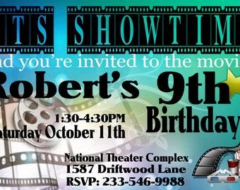 Birthday Party Invitation Movie Party DIY Printable Movie Birthday Invite Cinema Invitation