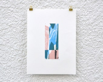 abstract screenprint 'What is reality'