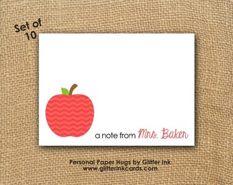 Personalized Teacher Note Cards - Stationery for Teacher - Teacher Thank You cards - Blank notecards - Blank note cards - Blank Stationery