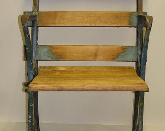 Pre 1979 Cast Iron Yankee Stadium Seat Chair Babe Ruth Gehrig Dimaggio Mantle Era Baseball