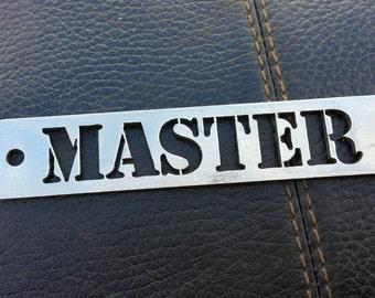 "BDSM ""Master"" Stainless Steel Fetish Keyring"