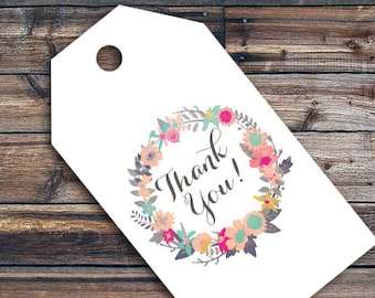 Thank You Label - Shabby Chic Thank you label - Birthday Party