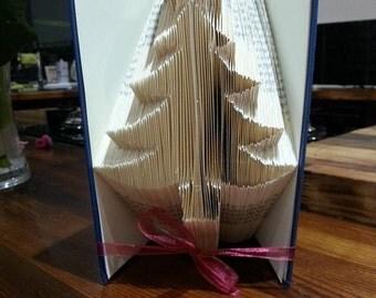 Christmas Tree book folding pattern
