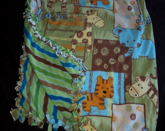 Jungle tie blanket