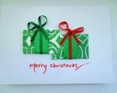 SALE* Christmas Presents Textile Card