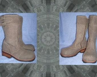 Hemp Biker boots