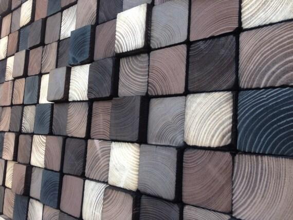 abstrakte acryl malerei auf holz aufgearbeiteten holz kunst. Black Bedroom Furniture Sets. Home Design Ideas