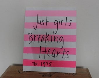 the 1975 girls lyrics on canvas