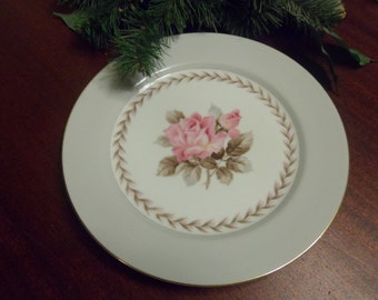 REDUCED PRICE.........Noritake China,  Rosemont Pattern,  Dinner  Plate 10  inches