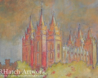 Salt Lake LDS Temple PRINT, variety of sizes available
