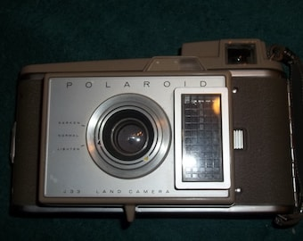 Vintage 1960's Polaroid J 33 Land Camera Instant Camera--Great Display Piece