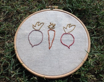 Vegetable Embroidery: Roots