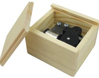 Musical Wooden Box Wind Up Music Box DIY Customize Base