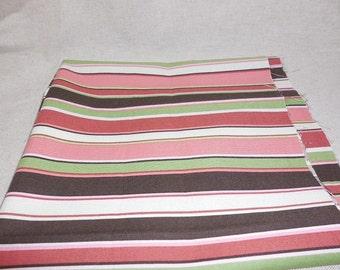 Destash-  Lovely Striped Fabric Remnant
