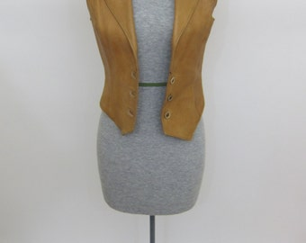 Vintage HANDMADE VEST 70's Rock N' Roll Vest xs