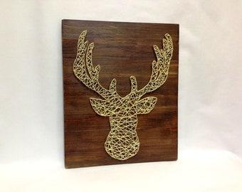 Deer, Elk, Moose of string art for home and wall decor.  Elk, Deer, animal wall art wood interior