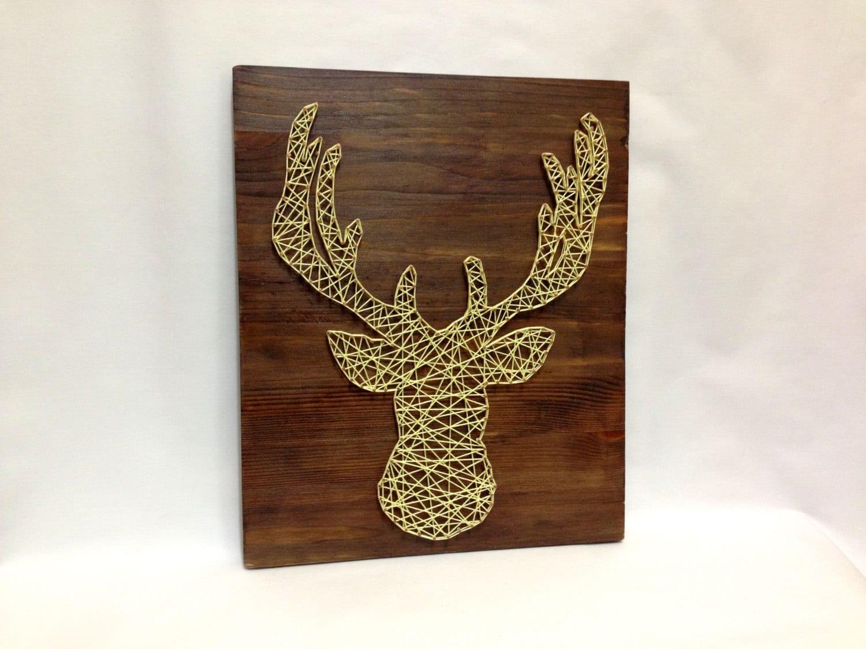 deer elk moose of string art for home and wall decor elk