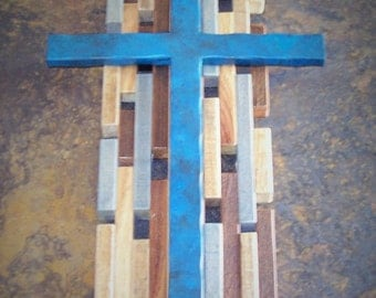 Rustic Wood and Metal Cross