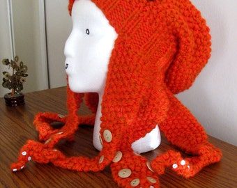 Adorable Knit Octopus Hat