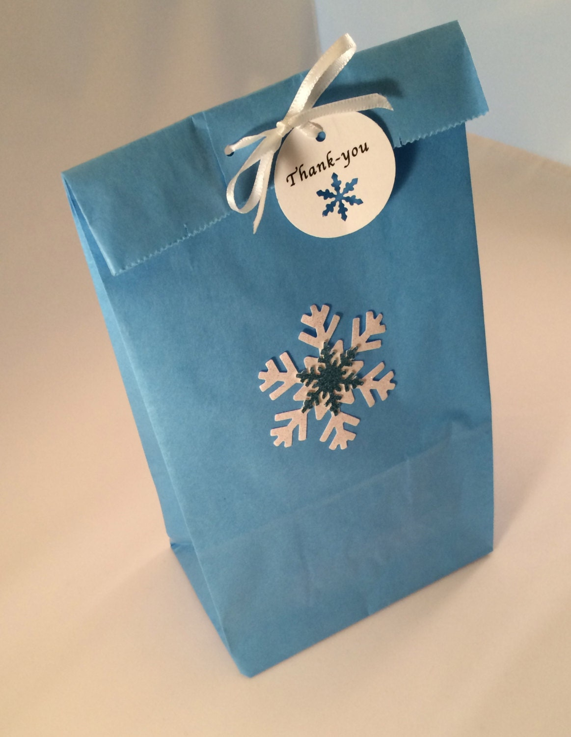 Frozen Favor Bag Thank You Tag And Ribbon 10 Frozen Party