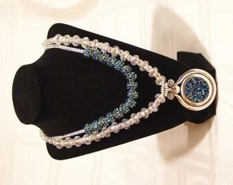 Sapphire Sparkle Pendant Necklace