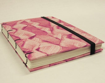 Handmade coptic stitched notebook with blank pages