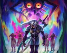 Zelda: Majora's Mask 3D Fierce Deity Link - Poster 13x19