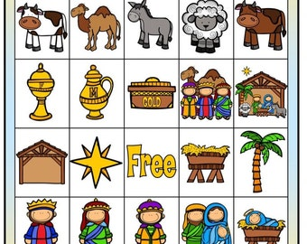 Nativity Bingo digital file with call out cards