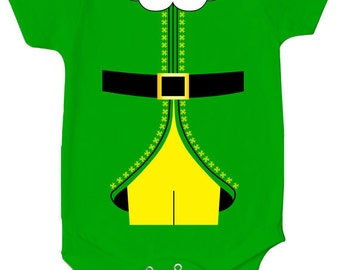Buddy The Elf Costume Bodysuit Baby Elf Onepiece Funny Baby Clothes Adorable Cute Creeper Romper MD-245