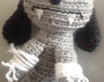 Cute wicked little Vampire Bunny Rabbit, Handcrafted Crochet