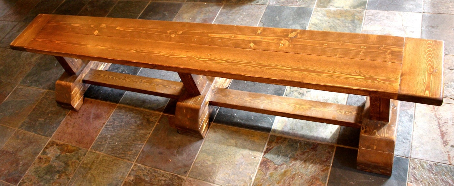 Custom Rustic Farmhouse Table Farm Table Bench
