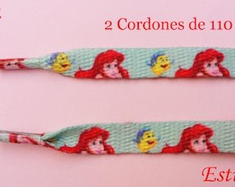 2 the Little Mermaid Ariel shoe laces