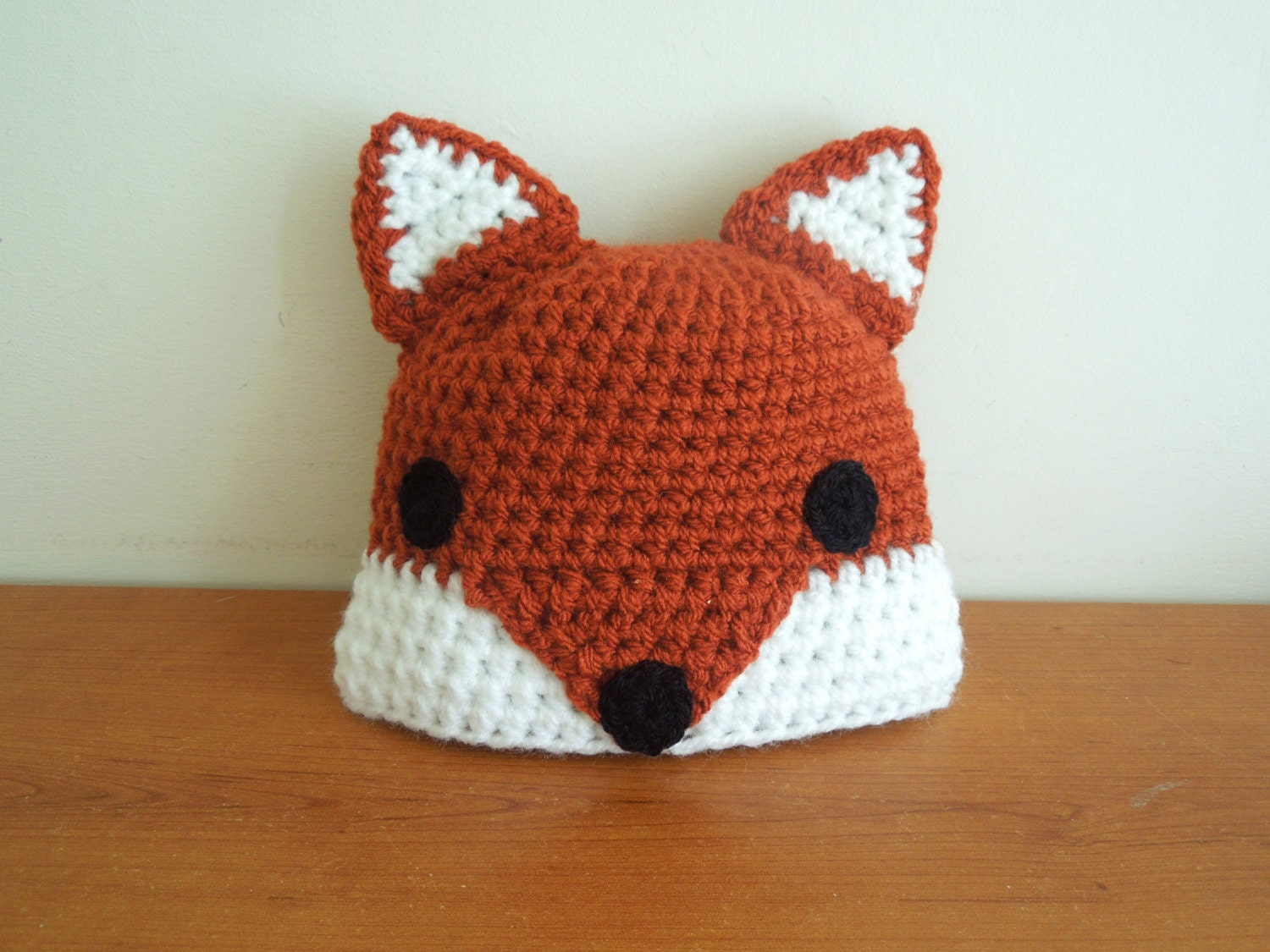 Crochet Fox Hat : Baby Crochet Fox Hat for 0 6 months and by CraftyCornishMaids