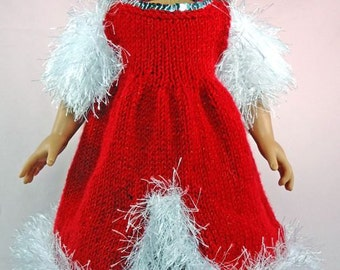 Winter Princess Dress, Knitting Patterns for 18-Inch Dolls - Immediate Download - PDF - Fits American Girl Doll