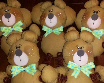 Bears, jungle animals, supply for parties, center pieces, birthday ideas, set of 5 bears on stick.