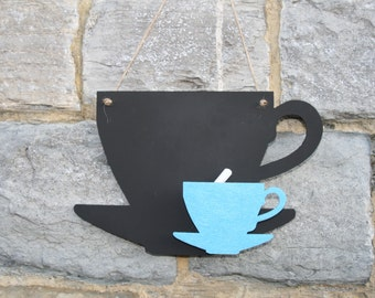 A wonderful Tea Cup Blackboard / Chalkboard