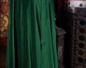 Luxury 'Ostara' Green Velvet Pagan Cloak. Made to measure. Other colours available.