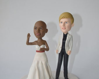 Lesbian wedding cake topper LBGT Custom cake topper funny cartoon figure