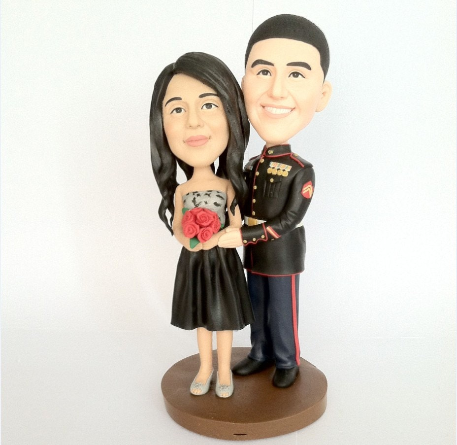 personalized cartoon wedding cake toppers wedding cake topper personalized soldier toppers 18261