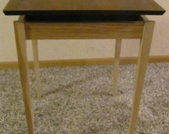 Levitating Top End Table Walnut top with Ash Base