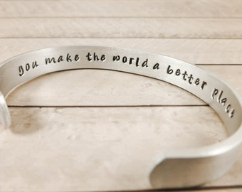 Personalized jewelry, Hidden Message Bracelet - jewelry hand made - inspirational gift friend mother secret message