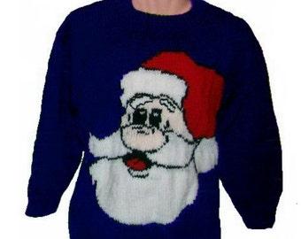 Childrens & Adults Christmas Santa Jumper / Sweater Knitting Pattern #1   PDF Instant Download Xmas