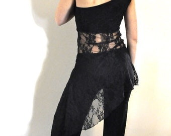 Black lace tunic for tango