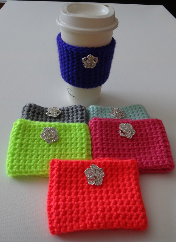 Knitting Pattern For Mug Holder : Items similar to Thermal Knit Cup Mug Thermos Cozy Holder ...