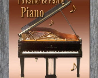 Mouse Pad - I'd Rather Be Playing Piano - Free Shipping