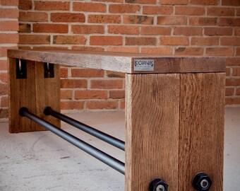 Vintage Industrial Oak bench