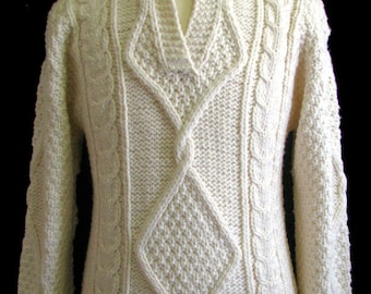 """The Beige """"Ellis"""" Men's Wool Sweater"""