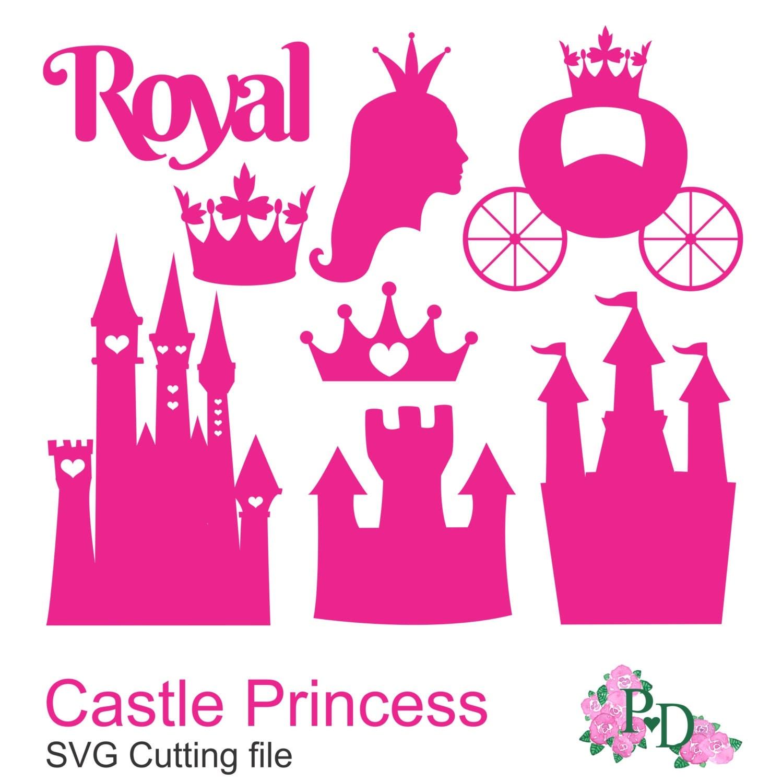 royal dxf svg png castle princess cinderella cutting files for. Black Bedroom Furniture Sets. Home Design Ideas