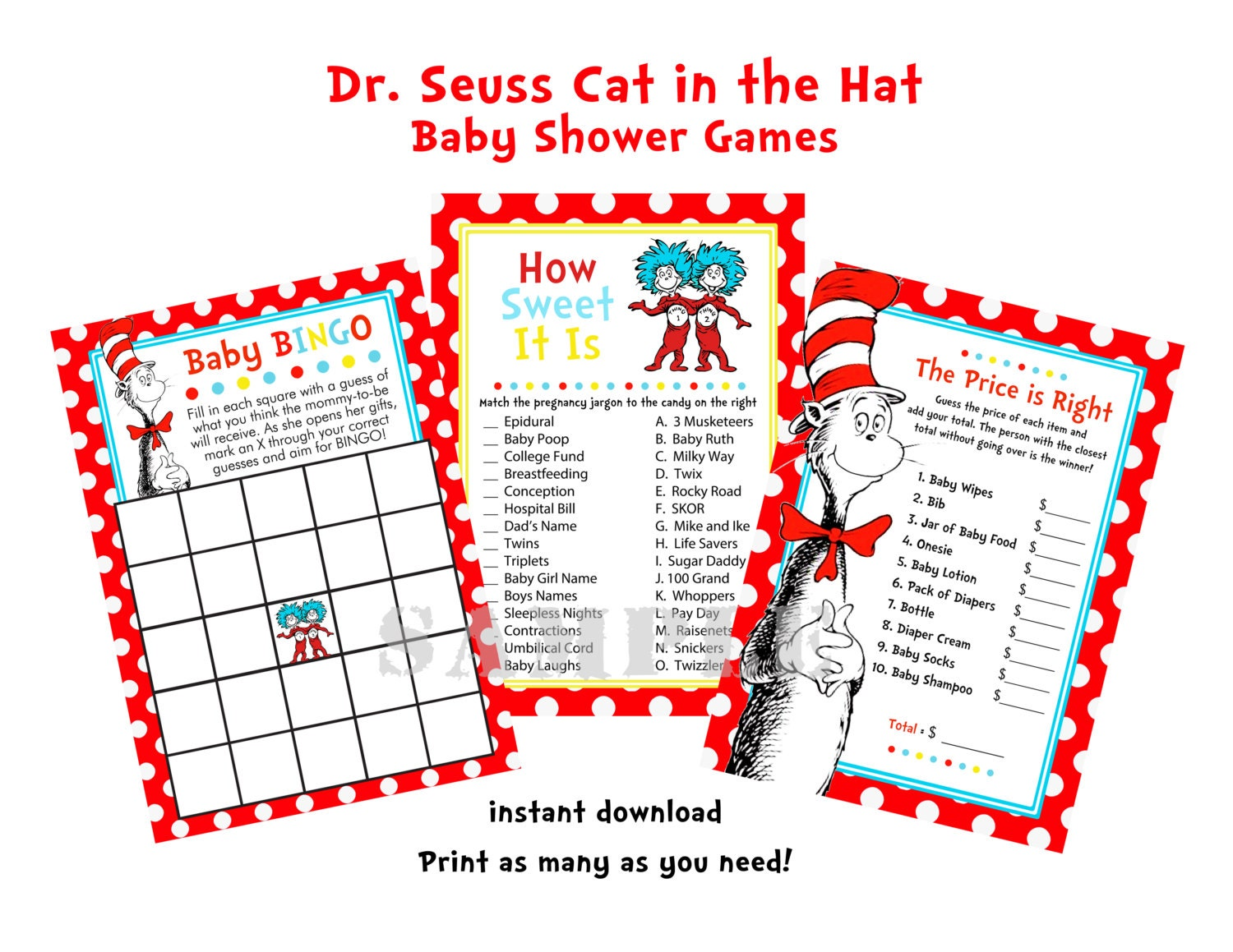 dr seuss cat in the hat baby shower games how by purplepoppylove